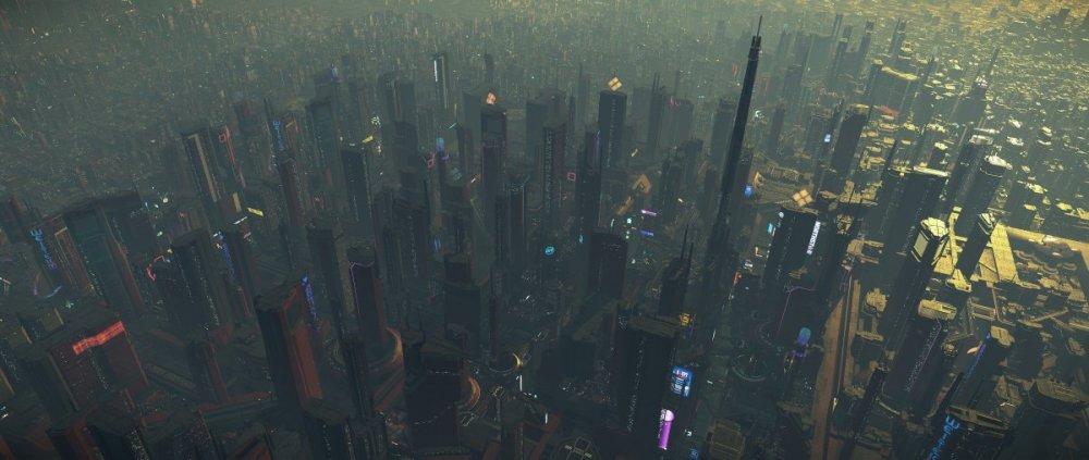 Star Citzien 3.5 - ArcCorp, planeta - miasto.