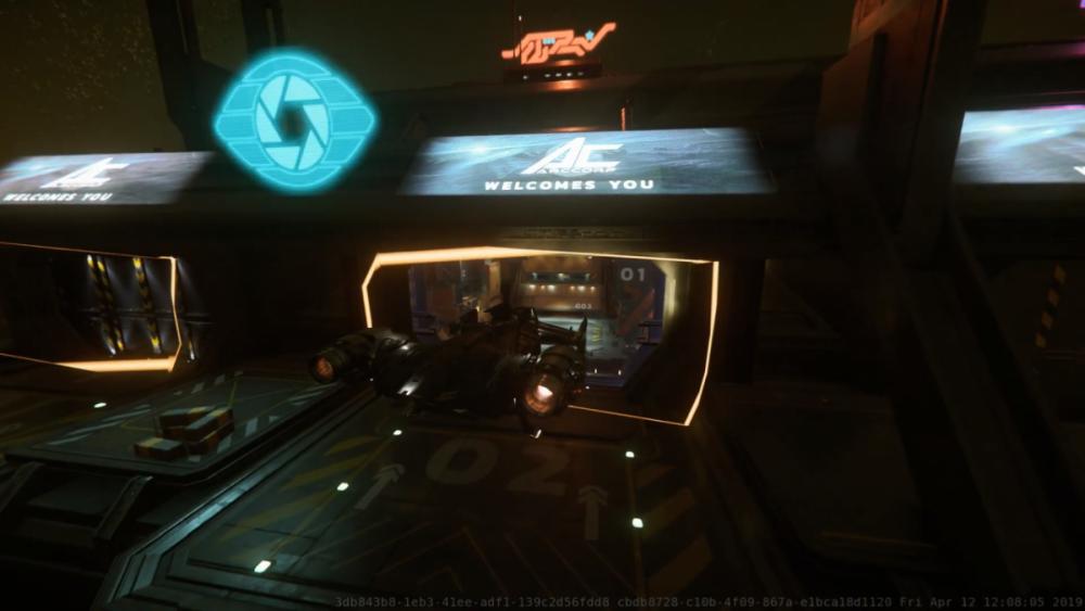 Star Citizen - ArcCorp Area 18, Cutlass Black. Lądowanie