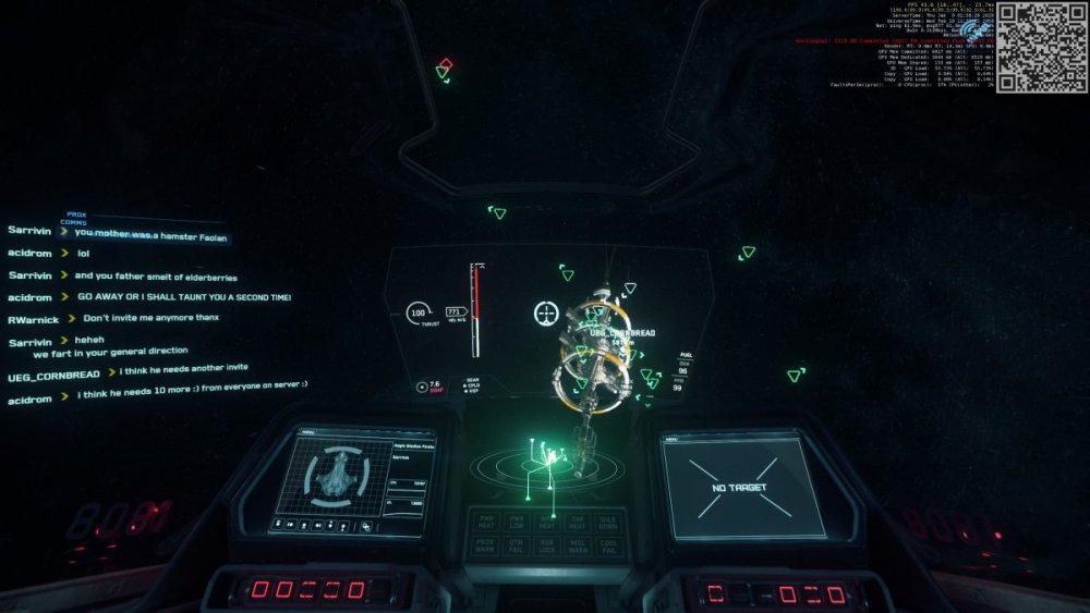 Star Citizen - Aegis Gladius - Hamster, Monthy Python, Elderberries, I shall taunt you a second time! French